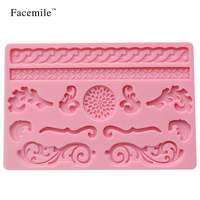 Free Shipping Baking Mold Bakeware Pastry Cake Mould Tools Silicone Volume Tenghua Combination Flowers Plants Shaped