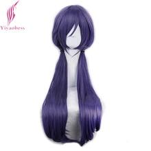Yiyaobess 75 cm Nozomi טוג ו סינטטי שיער ישר ארוך סגול פאת קוספליי פאות עם פוני משלוח חינם