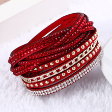 2016 New Unisex Multilayer Leather font b Bracelet b font Christmas Gift Charm font b Bracelets