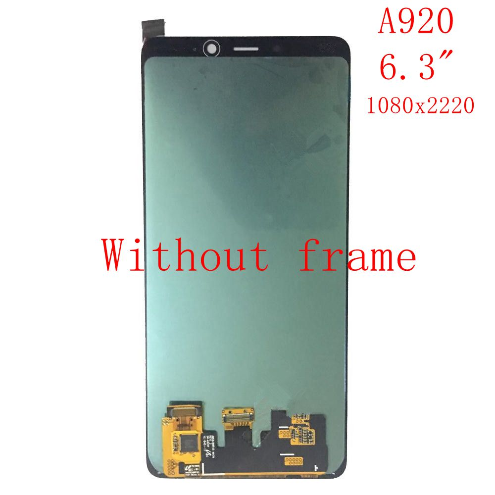 Super Amoled For Samsung Galaxy A9 2018 A920F/DS SM-A920 Lcd screen Display+Touch Glass Digitizer Frame Assembly Super Amoled For Samsung Galaxy A9 2018 A920F/DS SM-A920 Lcd screen Display+Touch Glass Digitizer Frame Assembly