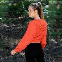 Yoga Tops Women Sport Clothes Long Sleeve Crop Top Hoodies Sport Shirt Yoga Top Camisas Mujer Ladies Gym Tops Womens Shirts