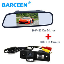5 car display mirror monitor with plastic shell car parking font b camera b font fit