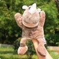 Super lindo 1 unid 30 cm rinoceronte bosque marionetas de mano de la felpa historia muñeco de peluche bebé saco de dormir infantil del juego de regalo