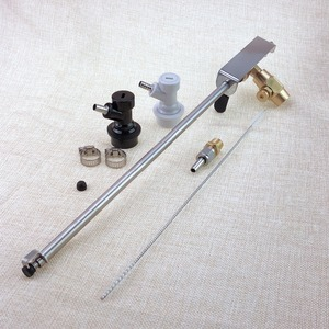 Image 4 - NEW Stainless Steel Bottle Filler Beer Gun, Homebrew Kegging CO2 Beer Making Beer Filling Bar Tool,with ball lock set