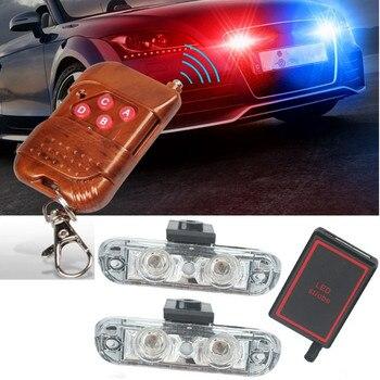 Новый 1 компл.. DC 12 В в светодио дный 2 LED беспроводной пульт дистанционного управления вспышкой автомобиля грузовик полицейский свет красный...
