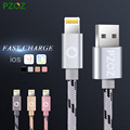 Pzoz iluminación cable cargador rápido adaptador de cable usb original para iphone 6 s plus i6 i5 iphone 5 5s ipad air2 cables de teléfono móvil