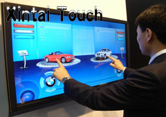 Xintai Touch 46 inch IR multi touch screen overlay Real 4 points IR Touch Frame sunproof touch screen panel