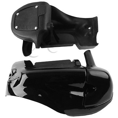 Motorcycle Black Lower Vented Leg Fairings Cap Glove Box For Harley Davidson Touring Models Road King Electra Glide Ultra in Covers Ornamental Mouldings from Automobiles Motorcycles