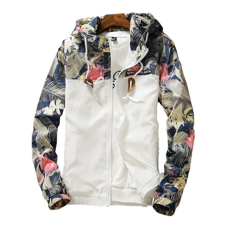 Hooded Jackets 2018 Summer Causal windbreaker Basic Coats Sweater Zipper Lightweight