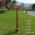 Traditionellen europäischen landschaft licht garten rasen wasserdichte bronze klassische outdoor post lampe FÜHRTE pol licht vintage straße licht