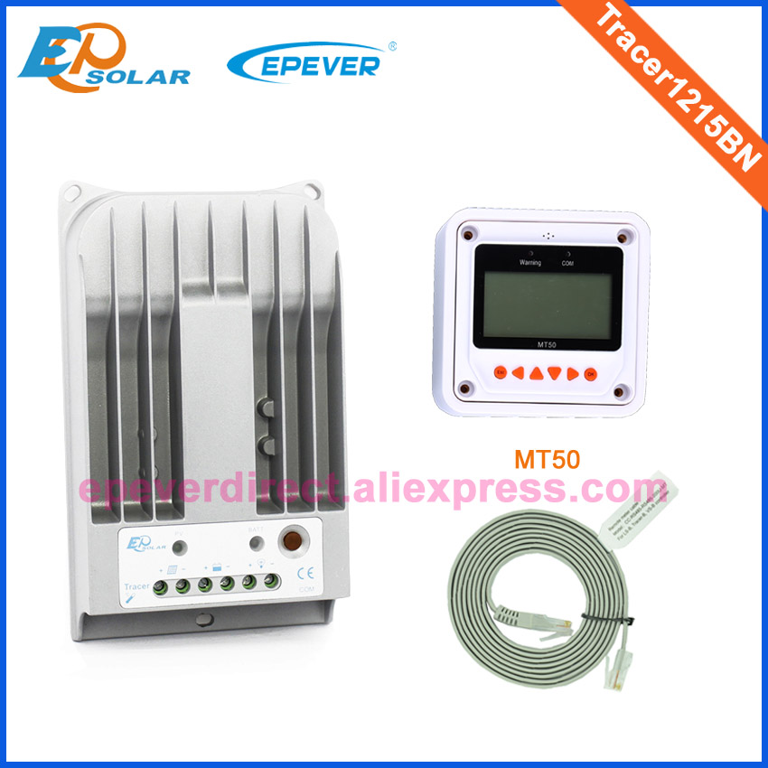 Great low price to EU and Asia country,Free shipping controller Tracer1215BN 10A 10amps Solar regulator+MT50 Meter 24V charger