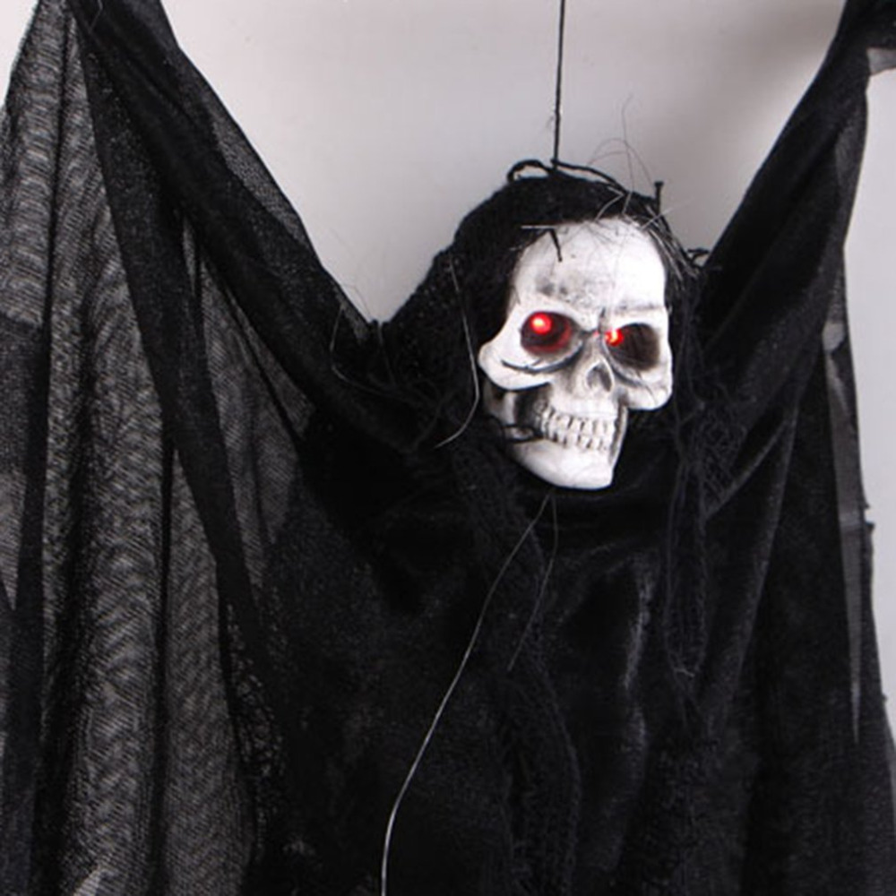 Voice Activated Halloween Skull Skeleton Ghost Hanging