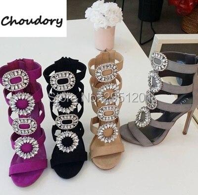 Choudory new Women Sandals diamond stud Thin high heels glitter rhinestone  sandals Women Party Shoes wedding high heel crystals-in High Heels from  Shoes on ... 4fd59386c255