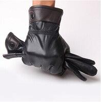 כפפות של גברים באיכות גבוהה 2014 המכירה הטובה ביותר משלוח חינם אמיתי המתנה הטובה ביותר לאבא כפפות עור החורף חם כפפת ג ' נטלמן g13