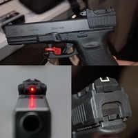 LAMBUL Taktische Red Laser anblick für Airsoft KWA KSC Glock 17 19 22 23 25 26 27 28 31 32 33 34 35 37 38 pistole Eisen Hinten Anblick