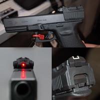 LAMBUL táctico rojo láser para Airsoft KWA KSC Glock 17 19 22 23 25 26 27 28 31 32 33 34 35 37 38 pistola de hierro vista trasera