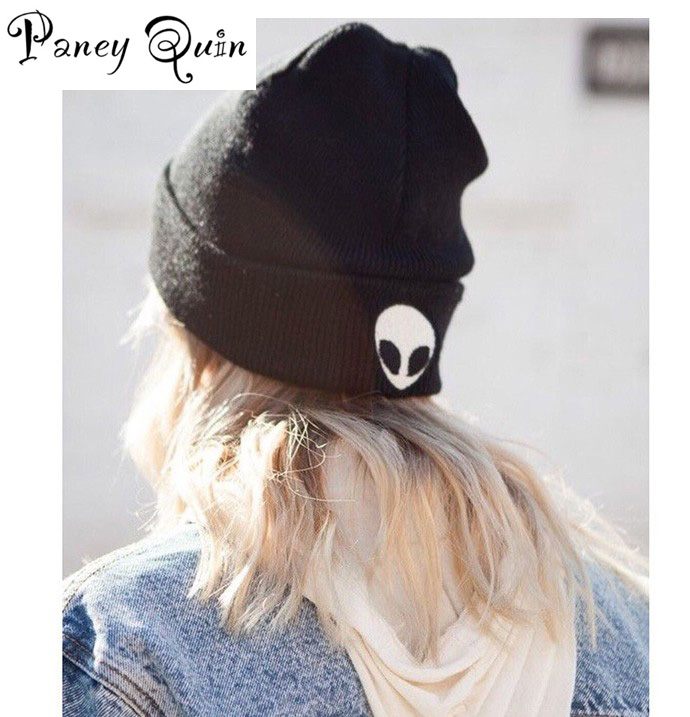 Embroidery Meow Winter   Beanies   Hat Men Caps Women's   Beanies   Warm Hip Hop Bonnet Wool Blends Knitted Hat Female   Skullies     Beanies