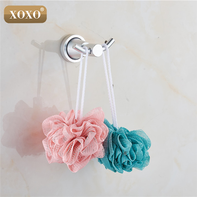 XOXO New product soild practical wall mounted aluminum bathroom accessories bathroom robe hook/ rows of hook <font><b>3082</b></font> image