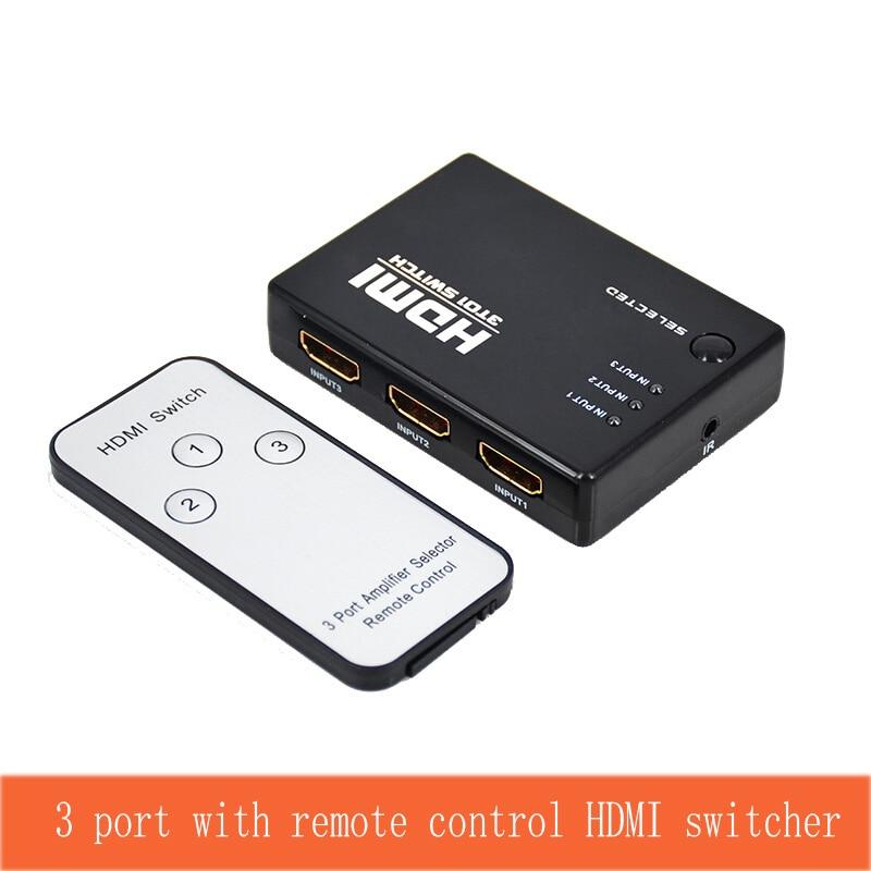 3 Port Smart HDMI Switcher Three HDMI Signal Input Switch HDMI Signal Output 3 Cut 1 Video Switcher