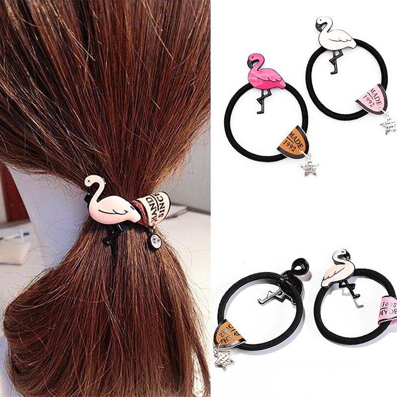 Star Cute Elastic Hair Band 1PC Hair Rope Women Girls Cartoon Birds Hair Accessories Headwear