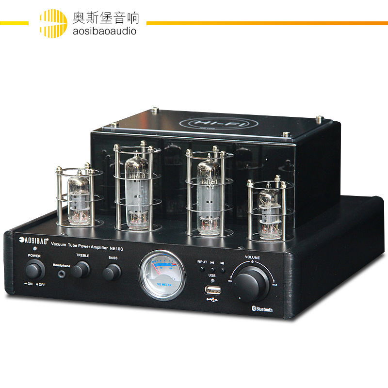 2018 new NE10S built-in 4.0 Bluetooth MP3 lossless WAV USB 220V 25W 2.0 channel 6F1 + 6P1 tube Home HIFI tube amp amplifier fanmusic 6p1 usb decoder tube amplifier
