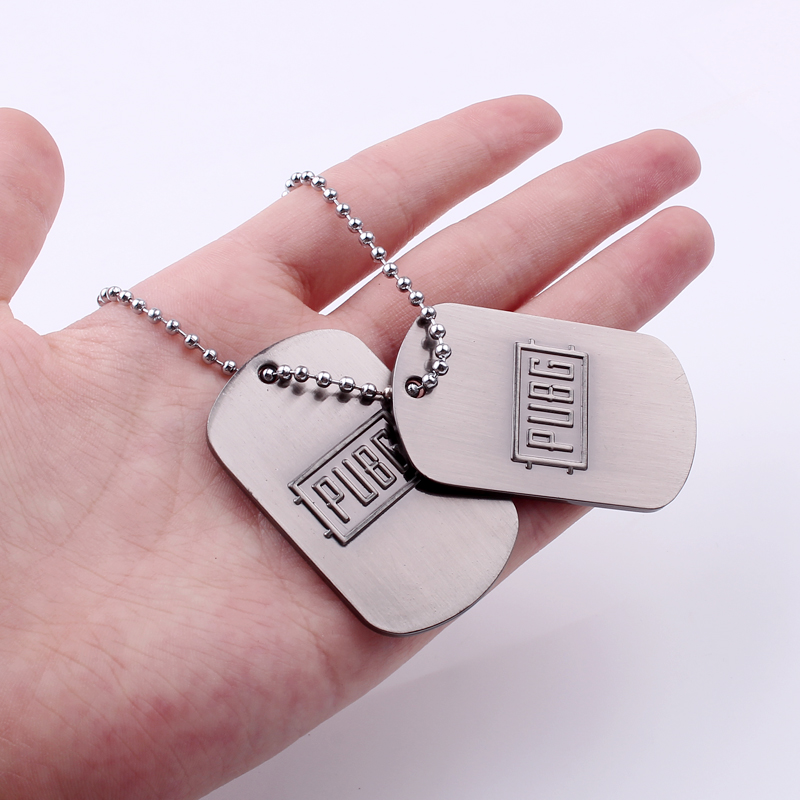 Stg Game Playerunknown's Battlegrounds Necklace Stainless Steel Pubg Winner Chicken Dinner Letter Logo Dog Tag Pendant Sale Overall Discount 50-70%