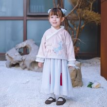 KINE PANDA Winter Kids Dresses for Girls Princess Chinese Traditional Style Baby Girl Dress New Year Christmas Gift 2-9Years Old(China)