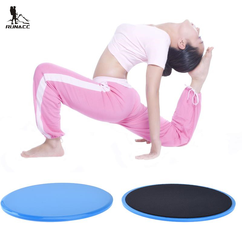 RUNACC Gliding Discs Resistance Loop Bands Set Workout Sliders Exercise Sliders Perfect For Improving Body Balance Flexibility