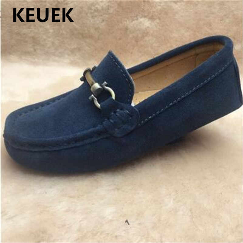 New Children Casual Loafers Baby Toddler Shoes Flats Breathable Student Genuine Leather Boys Dress Shoes Kids Spring/Autumn 02B