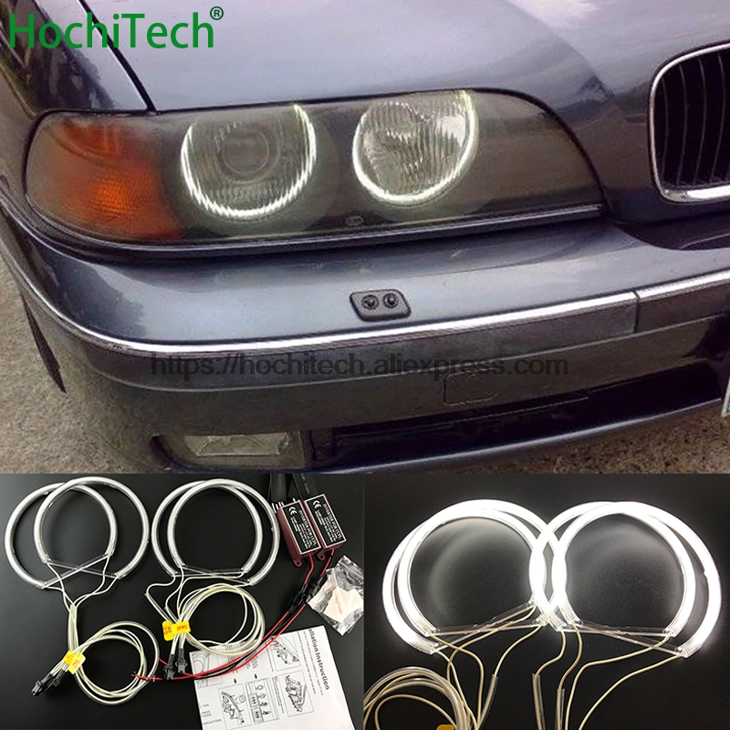 FOR 01-03 BMW E39 5 SERIES CLEAR LENS USA FOG LIGHTS ASSEMBLIES+6000K AC HID KIT