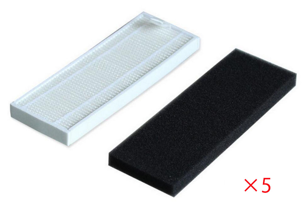 Replacement HEPA Filter & Foam Filter Kit for Ecovacs Deebot DT85 DM81 DT83Vacuum Cleaner