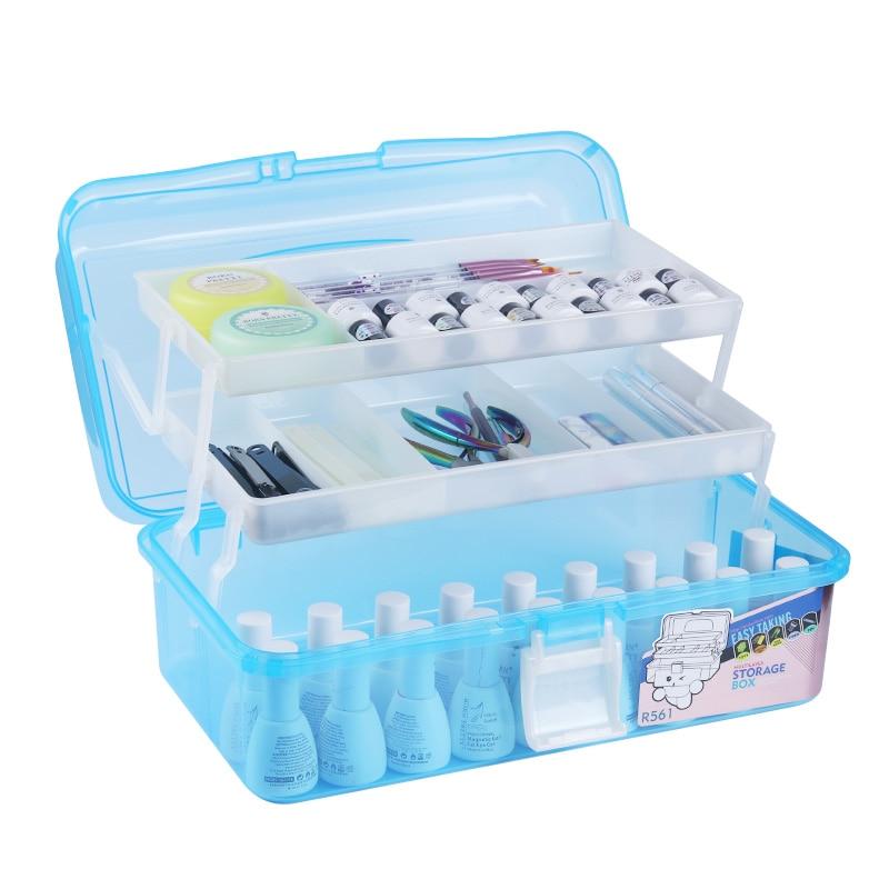 Nail Art Organizer: 1 Pc Storage Box Nail Decoration Container Nail Care Tool