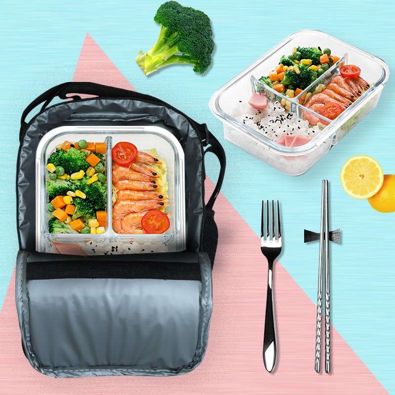 grande capacidade saco de almoço portátil isolado