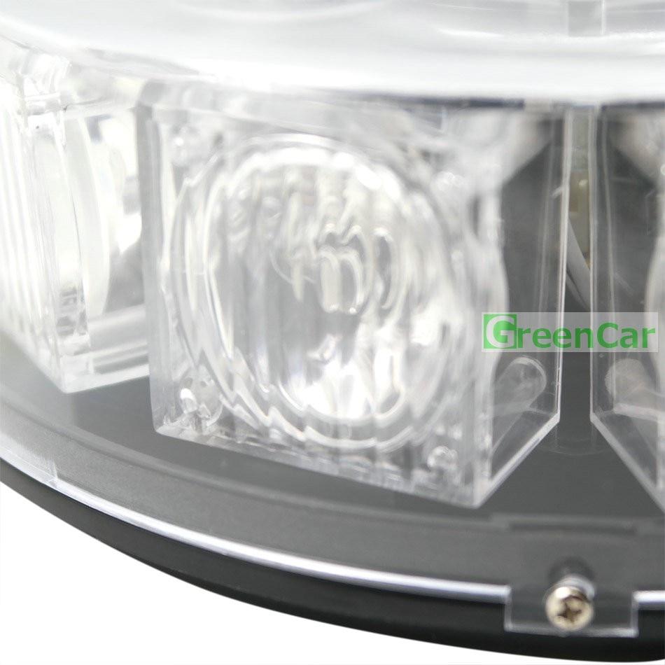 10 LEDs Super Bright 30W Atap Mobil Peringatan Cahaya Dome Flashing - Lampu mobil - Foto 4