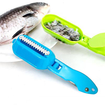 Fish Scales Scraping Kitchen Accessories and Fish Skin Brush Made with Stainless Steel