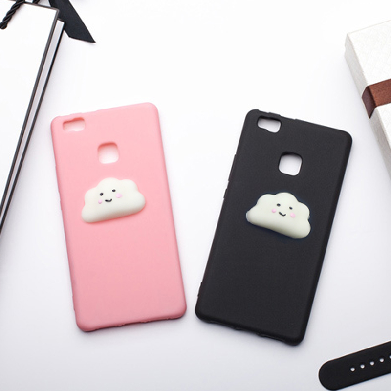mrgo fitted case for huawei p9 lite case 3d silicone cloud squishy coque for huawei p9 lite