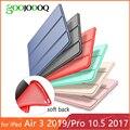 Para iPad Air, iPad Pro 10,5 caso iPad 3 Caso 2019 cubierta Funda de cuero de la PU de silicona suave para iPad 2019 caso Pro 10,5 de 2017