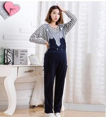 2017 spring and autumn pregnant women overalls   new Korean fashion large size autumn maternity suspender pants SH-YZ74JYF