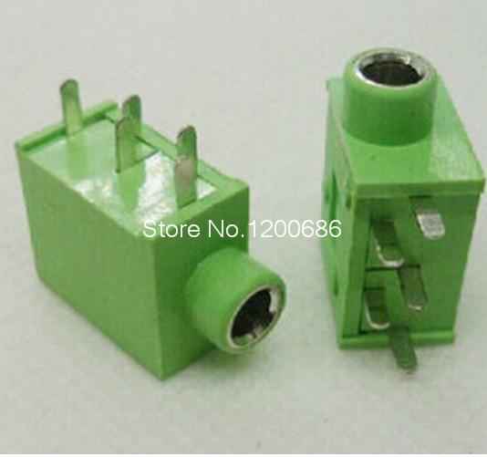 5 Pin PCB Mount Female 3.5mm Stereo Jack Socket Connector