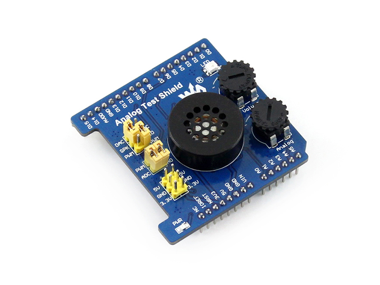 Analog Test Shield Developemnt Board Features AD Acquisition DA Output Compatible with UNO,Leonardo, NUCLEO, XNUCLEO