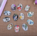 24X  13*18mm Restore ancient ways elements ellipse Handmade Photo Glass Cabochons & Glass Dome Cover Pendant Cameo Settings