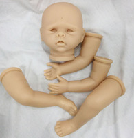 wholesale unpainted Reborn Doll Kits open eyes Artist Handmade Mould DK 88 for 20'' Alive Soft Silicon Vinyl 3/4 Head Arms Legs