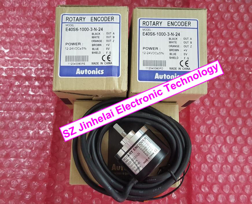 100% New and original E40S6-1000-3-N-24 AUTONICS Encoder 12-24VDC цены