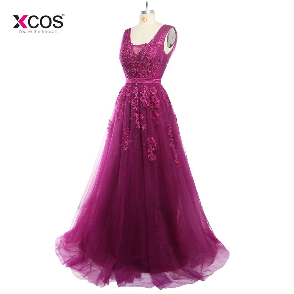 Lungimi formale lungi de lungime V-gât rochii de domnisoare de - Rochii de seară de nuntă - Fotografie 3