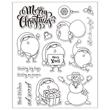 Christmas Santa Claus Clear Silicone Rubber Stamp for DIY Scrapbooking/photo Album Decorative Craft Clear Stamp Chapter
