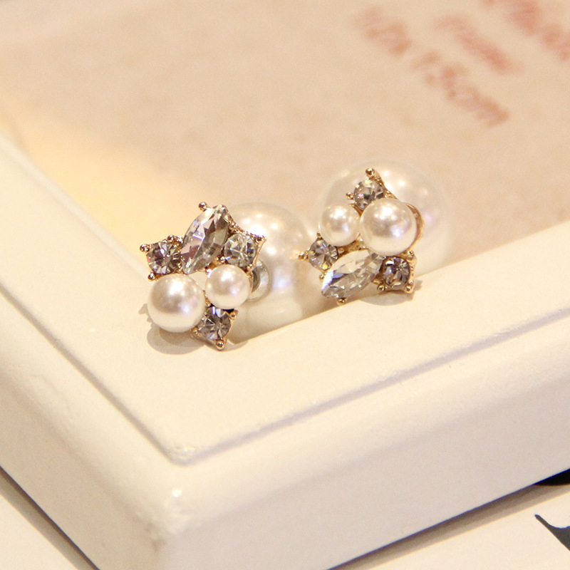 Earrings New Arrival Simple Rhinestones Women Earrings Ear Cuff Cute Big Simulated Zircon Clip Earrings For Women Jewelry Accessories Careful Calculation And Strict Budgeting