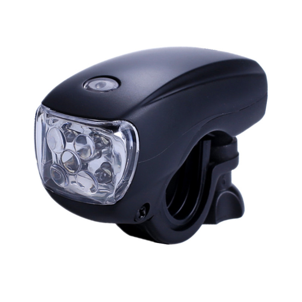 Black Color Cycling Bike Bicycle Super Bright 5 LED Front Head Light Lamp Flashlight Wholesale For Dropshipping