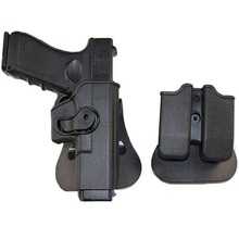 IMI Glock Holster Hunting Tactical Combat Gun for 17 19 22 26 31 Pistol Holsters Airsoft Case with Clip Pouch
