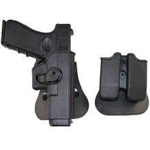 Imi glock coldre caça tático coldre de arma de combate para glock 17 pistola holsters airsoft caso com clipe bolsa
