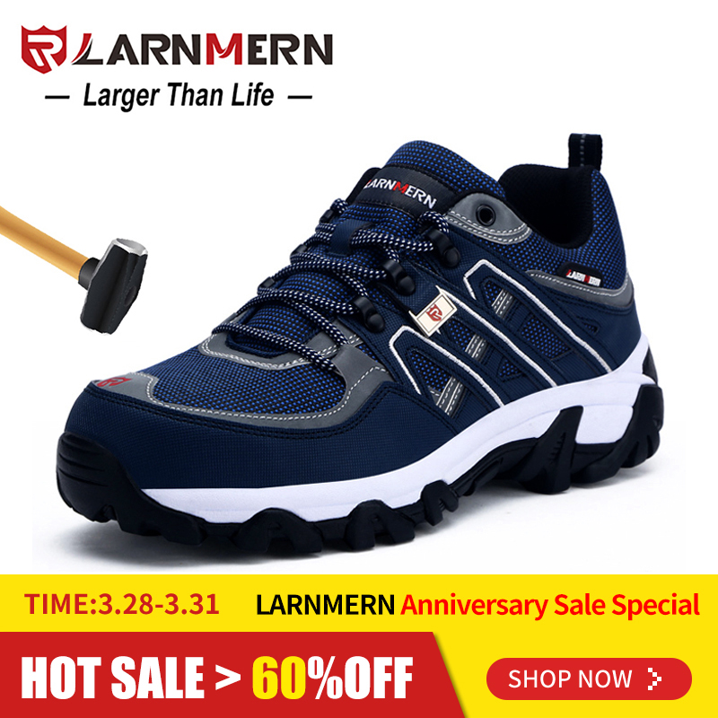 Men's Shoes Bright Larnmern Men Steel Toe Cap Work Safety Shoes Breathable Outdoor Security Footwear For Man Construction Sneaker Puncture Proof Men's Boots